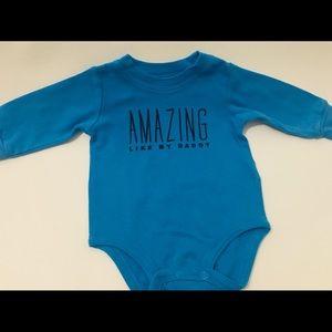"""Baby Boy """"Amazing Like My Daddy"""" Onesie"""